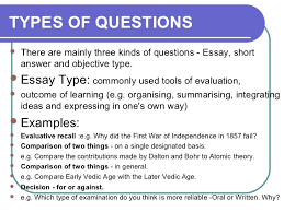 Essay type test nedir Selection vs