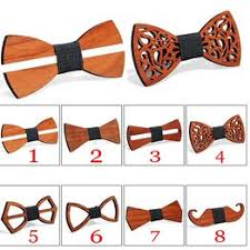 Unisex Wooden Bow Tie Hollow Out Carved Retro Wooden ... - Vova