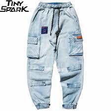 <b>Men</b> Cargo <b>Pants Hip Hip Streetwear</b> Color Block Harajuku Joggers ...