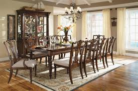 Formal Dining Room Sets For 10 Rustic Brown Polished Round Counter Height Dining Table Set