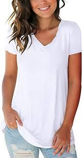 SAMPEEL <b>Women's</b> Basic V Neck <b>Short Sleeve</b> T Shirts Summer ...