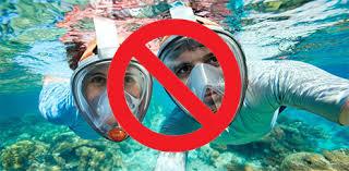 <b>Full Face Snorkel Mask</b> Dangers - The Scuba Doctor