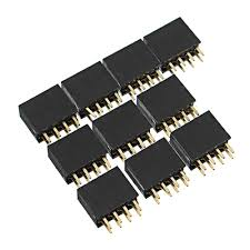 <b>50pcs 2.54mm 2x4P 8P</b> Double Row Female Straight Pin Header ...
