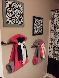 bathroom decor ideas unique decorating: cute towelsthey would never stay this way in my house but very