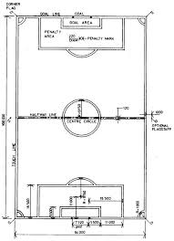 international standard football pitch      art of design    diagram of setting out line court markings for football pitch