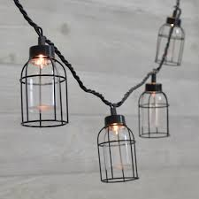 vintage style edison cage string lights blue mason jar string lights