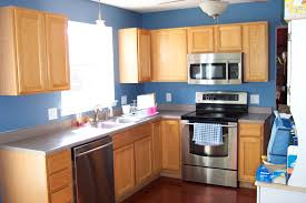 Colored Kitchen Appliances Amazing Blue Wall And Backsplash Color With Stainless Kitchen