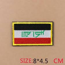 1PC fashion shield <b>circular</b> flag Iron On Embroidered <b>Patch</b> For ...