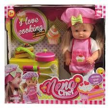 <b>Кукла Dimian</b> Baby <b>Nena</b> Шеф-повар, 36 см, BD387 — купить по ...