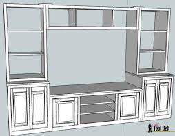 room built center section build this stylish media center for about  free diy plans include medi