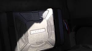 kicker hideaway powered subwoofer 8 in toyota tacoma extended cab kicker hideaway powered subwoofer 8 in toyota tacoma extended cab 01