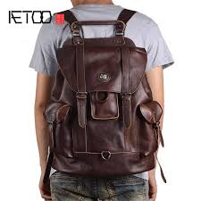 <b>AETOO</b> Vintage handmade cowhide leather shoulder bag shoulder ...