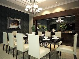 dining room table mirror top: white armchairs two wall mirror dark laminate flooring wood seat wood cabinet tall glass flower vase dining room centerpieces ideas