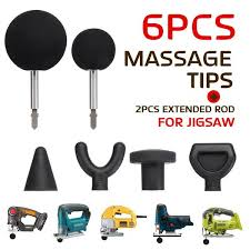6Pcs 75mm <b>Muscle Relaxation</b> Massage Gun Attachments For ...