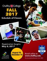 Chaffey College Schedule of Classes FALL