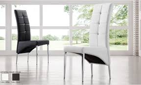 Faux Leather Dining Room Chairs Vesta Studded Faux Leather Dining Room Chair In White 21163