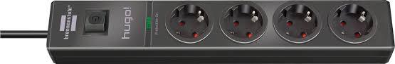 1150610314 <b>Brennenstuhl сетевой фильтр</b> 2 м., <b>hugo</b>! 19.500 А, 4 ...