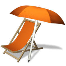 Resultado de imagen de beach chair umbrella icon