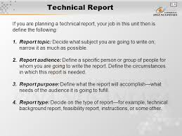 writing technical reports templates