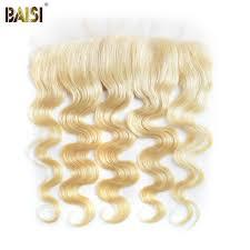 Online Shop BAISI <b>Brazilian Body</b> Wave #<b>613 Blonde</b> Remy Human ...