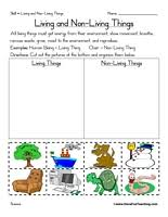 Free Living and Nonliving Things Worksheets - Have Fun TeachingLiving and Non-Living Things Worksheet