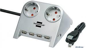 Удлинитель <b>BRENNENSTUHL Desktop</b>-<b>Power</b>+USB Hub 2.0 2 ...