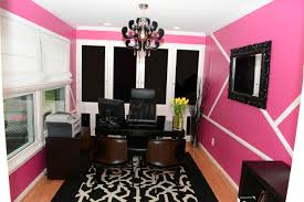 modern chic office pink wall interior chic office desk