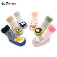 infant <b>socks</b> for <b>baby</b> warm booties sock with <b>rubber soles</b> for toddler ...