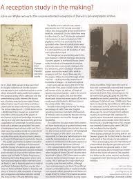 charles darwin s papers online john van wyhe