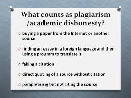 academic honesty  the legal and ethical use of information ontario    what counts as plagiarism  academic dishonesty  o using an essay from another course