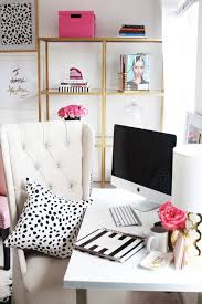 chic home office decor: my office is stylish minimalism with a dash of girly chic flair its completely different from the rest of my homes decor because its much more feminine