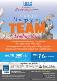 training on managing your team and leading them lead managing your team