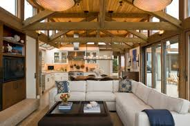 use an l shaped sectional as a room divider another great place for your l shaped sofa is between two seating areas or dividing the living and dining big living rooms