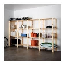 HEJNE <b>4</b> section shelving unit - softwood 120 7/8x19 5/8x67 3/8 ...