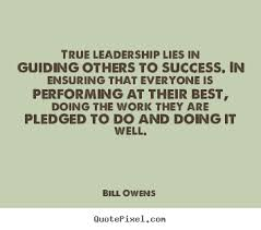 Design picture sayings about success - True leadership lies in ... via Relatably.com