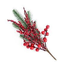 <b>1pc</b> Artificial Pine Branch Red Fruit Artificial <b>Berry</b> for <b>Christmas</b> ...
