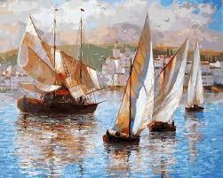 """<b>Картина</b> по номерам Белоснежка """"<b>Морская</b> прогулка по Италии ..."""