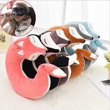 lovely fox animal cotton plush u shape neck pillow travel car home nap cartoon for flight plane