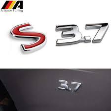 Online Shop 3.7 S 3D <b>Metal Car Styling Auto Badge</b> Grille <b>Emblem</b> ...