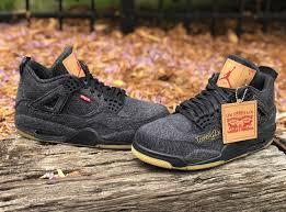 <b>Levi's</b> Air Jordan 4 Black Denim AO2571-001 - <b>Levis x</b> Air Jordan 4 ...
