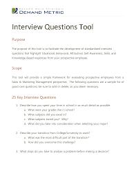 best photos of job interview question template interview interview questions template