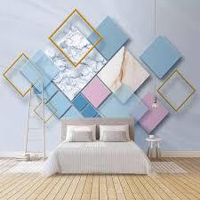 <b>Custom</b> Photo Wallpaper Modern Geometric Marble <b>3D Wall</b> Murals ...