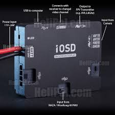dji iosd mark ii on screen display module helipal connection diagram click to enlarge