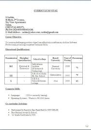 best curriculum vitae sample     sample template example    best curriculum vitae sample     sample template example ofbeautiful resume   cv format   career objective job profile   electrical