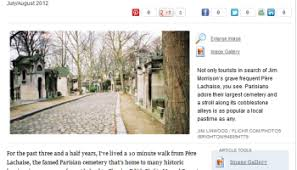 Letter from Paris  Life Lessons in P  re Lachaise Cemetery     Sion     Num  ro Cinq