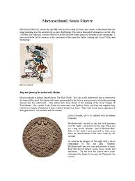 mictecacihuatl santa muerte aztec