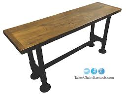 2 black iron pipe commercial table base for 30 x 96 top black iron pipe table