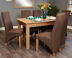 baumhaus mobel oak dining set with 6 full back upholstered chairs baumhaus mobel extending oak dining