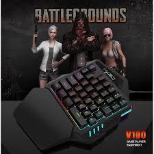 V100 <b>One</b>-Handed Keyboard Left Hand <b>Set Mini Portable</b> Mobile ...