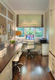 corner home office by window beautiful bright office